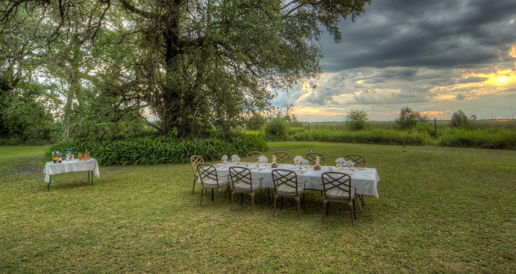 Camp Moremi In Moremi Game Reserve Botswana